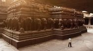 Stock Video Footage of Ellora Kailasanathar Temple II