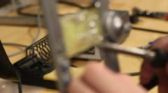Soldering circuit board Stock Footage