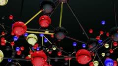 Complex Molecule Structure 02 - stock footage