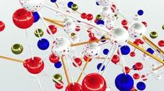 Complex Molecule Structure 09 - stock footage