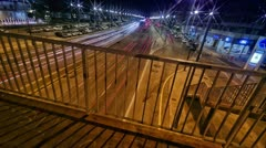 Timelapse of a freeway from a bridge - stock footage