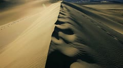 Sand Dunes Arid Desert Stock Footage