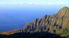 Valley along the Na Pali Coast - stock footage