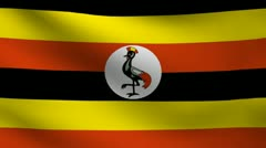 Uganda flag. Stock Footage