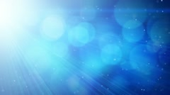 Blue abstract background light beams and particles loop Stock Footage