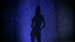 Adult Girl A Wet Blue 02 Stock Footage