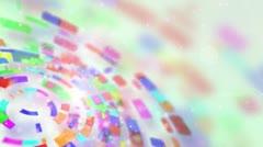 Multicolored circular segments rotate loop Stock Footage
