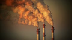 HD - Air pollution. Power plant - stock footage