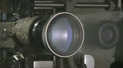 Film Projector cu 02 smoke 02 Stock Footage