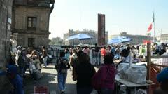 Mexico City Main Plaza Stock Footage