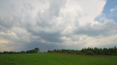 summer landscape, storm clouds, timelapse - stock footage