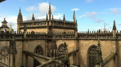 Seville Cathedral Stock Footage