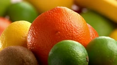 Fruits, citrus, rotate Stock Footage