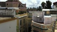 Stock Video Footage of Residental Rooftops of Seville