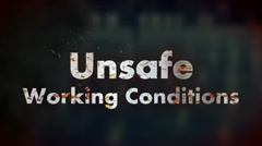 Unsafe Working Conditions - Conceptual - stock footage