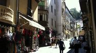 Stock Video Footage of Streets of Granada Spain