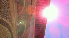 Granada Alhambra Lense Flare Stock Footage