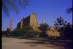 The Temple of Karnak at Luxo 108068 Stock Footage