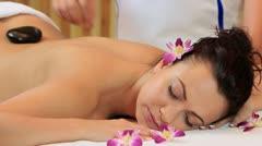 Hot Stone Massage Stock Footage
