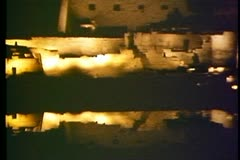 Temple of Karnak at Night, Son et Lumier in Egypt 108075 Stock Footage