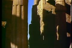 The Temple of Luxor with an obelisk 108072 Stock Footage