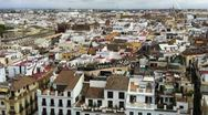 Stock Video Footage of Rooftops in Seville Spain 2