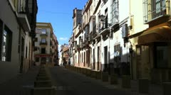 Residental Streets of Seville Stock Footage