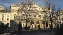 La Scala opera house, Milan, Italy Stock Footage