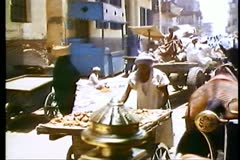 Busy village street in Egyp 108100 Stock Footage