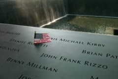 The 9/11 Memorial at the site of The World Trade Center 100000 Stock Footage