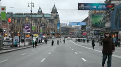 Kreschatik  street in Kiev - stock footage
