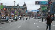 Stock Video Footage of Kreschatik  street in Kiev