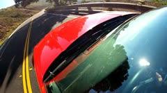 Luxury Cabriolet American Road Trip Stock Footage