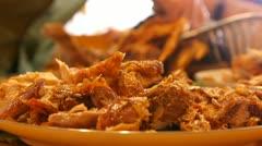 Turkey dark meat Stock Footage