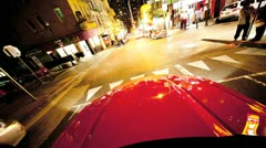 Viivästys Point of View Night San Francisco Streets Arkistovideo