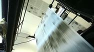 Stock Video Footage of view on huge press shop typography machine