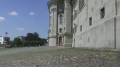 Einseidln monastery closeup - stock footage