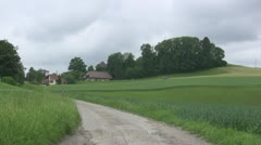 Swiss rural village long shot Stock Footage