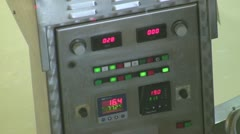 Control panel of cheese vat Stock Footage