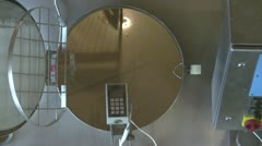 Stock Video Footage of Overhead shot of cheese vat