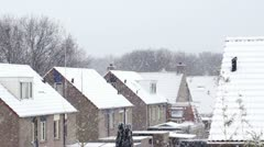 Snowstorm in the netherlands Stock Footage