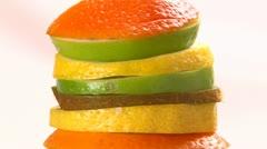 Fruits, peel Stock Footage