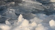 Stock Video Footage of ice and water