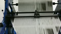 Black and white newspaper production line Stock Footage