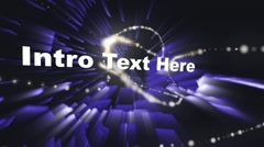 Spinning Lights n intro text - stock after effects