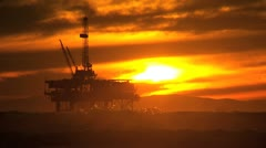 Fuel Drilling Platform Offshore Stock Footage
