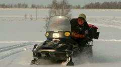 Snowmobiles Stock Footage