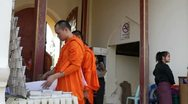 Stock Video Footage of Monks doing shopping