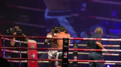 Fighters During A Muay Thai Gala - stock footage
