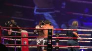 Fighters During A Muay Thai Gala Stock Footage